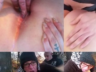 AnicaRed Prono Sex Video - Outdoor gefickt (Creampie)