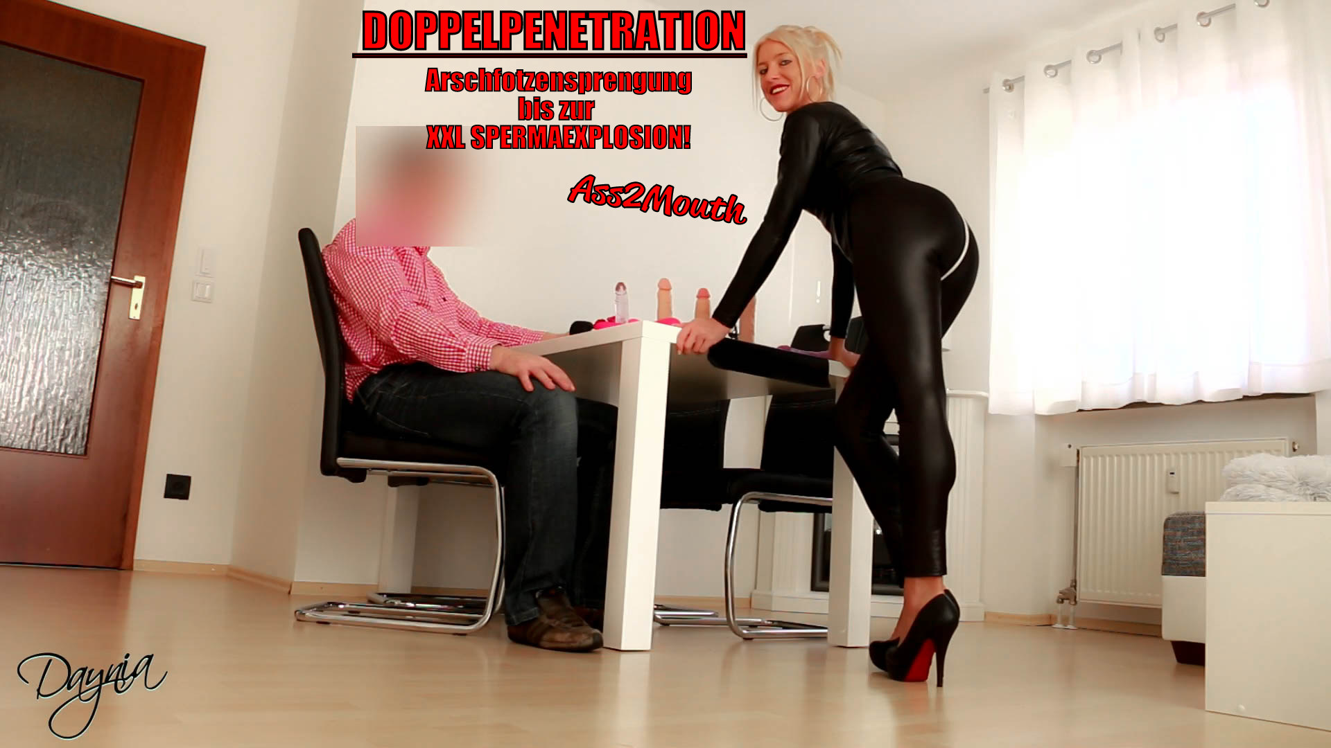 DP! Analsprengung bis zum MEGA CUMSHOT! Ass2Mouth